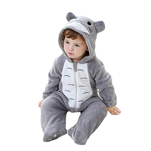 [Infant Baby's Spring Thin Pajamas Romper Onesie Outfits Suit Totoro 100] (Totoro Costume Girl)