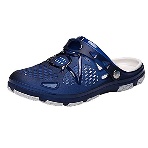 〓COOlCCI〓 Unisex Garden Clogs Shoes Sandals Slippers, Outdoor Casual Walking Beach Flip Flops Blue