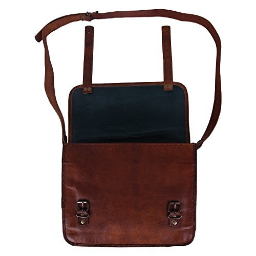 Rustic Town 15'' Genuine Leather Handmade Crossbody Messenger Satchel Laptop Bag by RusticTown (Image #9)