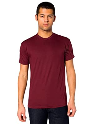 American Apparel Men's Poly-Cotton Short Sleeve Crew Neck
