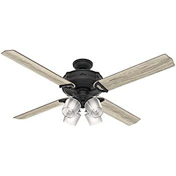 Amazon hunter 54179 brunswick ceiling fan with light kit with hunter 54179 brunswick ceiling fan with light kit with integrated control system 60 inch mozeypictures Image collections