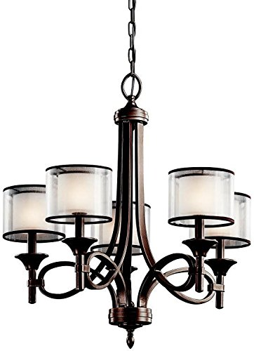 Kichler 42381MIZ Lacey Chandelier 5-Light, Mission Bronze from KICHLER