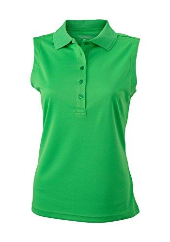Camiseta Polo micro poliéster Camiseta Polo sin mangas micro poliéster Mujer Green