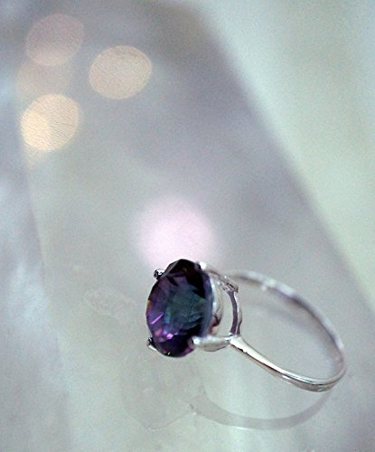Home Comforts Framed Art for Your Wall Mystic Topaz Stone Topaz Ring Sterling Silver Gem 10x13 Frame -