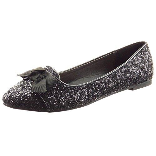 Bailarina Mulheres Moda Da Sopily Voar Brilhante Das Sapatos Preto wqAfxvH