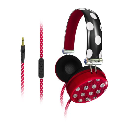 Minnie Mouse Fashion Over-The-Ear Headphones with Over-The-Ear headphones with Volume Control (MF-M48) -