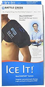 "Cold & Hot Therapy System Ice Pack Wrap for Shoulder - Ice It!® MaxCOMFORT™ (Shoulder Design; 13"" x 16"") – F30516"
