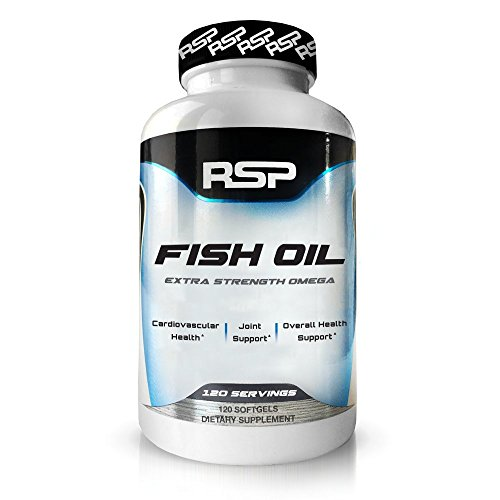 RSP Fish Oil Supplement - Triple Strength Omega 3 Softgels (1250 mg), HIGH EPA & DHA for Heart, Brain, Joint Health, 3x Strength Formula (120 Count)