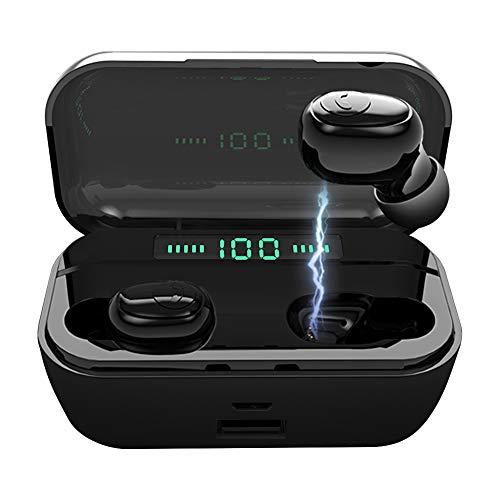 イヤホン SPROT 完全ワイヤレス ブルートゥースイヤホン Bluetooth 5.0 自動ペアリング 両耳 左右分離型 軽量 内蔵マイクスポーツスマホに充電可能 ワンタッチ通話 iPhone・iPad・Android対応 ブラック