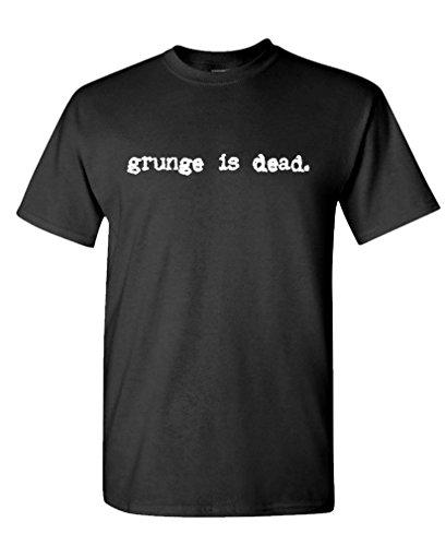 Grunge is Dead - Grohl Nirvana Guitar Rock Tee Shirt T-Shirt, L, Black ()