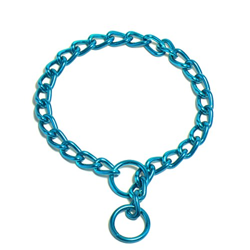 (Platinum Pets 4mm Coated Chain Dog Collar 20-Inch, Caribbean Teal)
