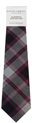 (Clan Tie MacPherson Hunting Modern Tartan Pure Wool Scottish Handmade Necktie)