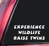 Experience Wildlife Raise Twins White Vinyl Decal Sticker