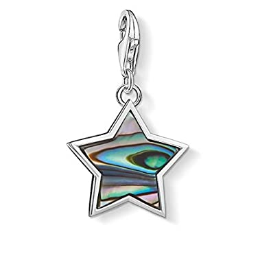 Thomas Sabo Charm pendant star mother-of-pearl white 1538-029-14 Thomas Sabo X7M2p
