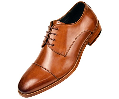 Asher Green Genuine Calf Leather Cap Toe Lace Up Oxford Dres