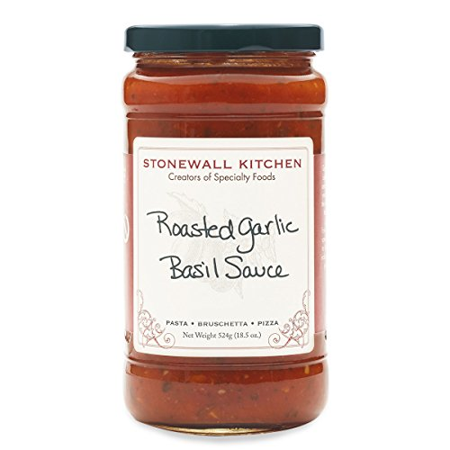 Roasted Garlic Pasta Sauce - Stonewall Kitchen Roasted Garlic Basil Sauce, 18.5 oz