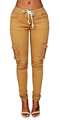 yellow skinny pants - 8