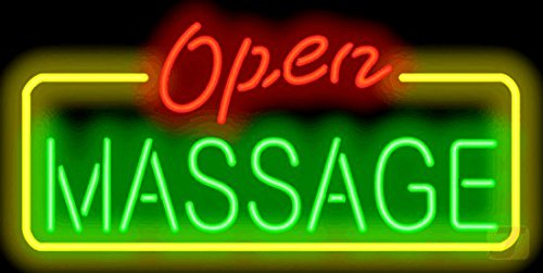 Massage Open Neon Sign by Jantec Sign Group