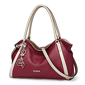 Leather Handbags for Women, Genuine Leather Ladies Top-handle Shoulder Bags