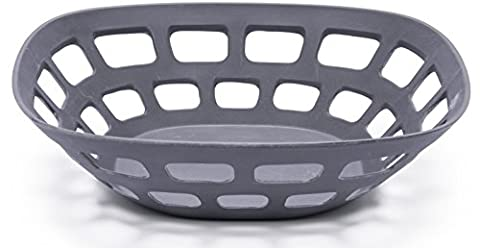 Bamboozle Bamboo Fruit Basket (Dark Grey, 11-1/2