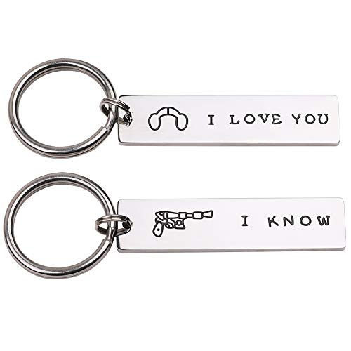I Love You I Know Couple Gifts for Him and Her Wedding Gifts Star Wars Jewelry Keychain Girlfriend Boyfriend Husband Wife Husband Trucker Anniversary Valentines Day Stocking Stuffers]()