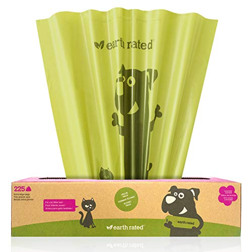 Earth Rated Extra Large Eco-Friendly Poop Bags, Lavender-Scented, Poop Bags for Large Dogs, 225 Bags on a Large Single Roll, Each Cat Poop Bag Measures 11 x 13 inches