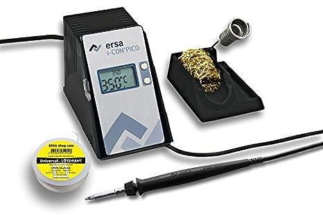 Ersa i-Con Pico electrónica regulados Soldadura 80 W, incluye 1 m Lötdraht: Amazon.es: Industria, empresas y ciencia