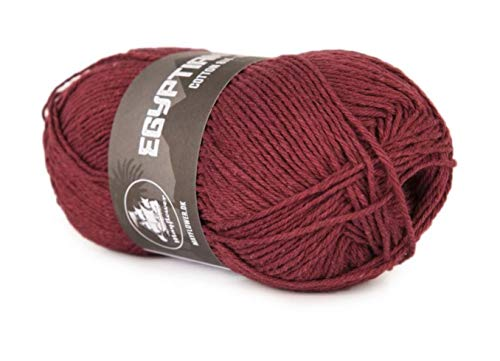 Happy Place Crafts - Organic Egyptian Cotton Yarn Luxury Egyptian Giza Cotton Yarn for Crocheting or Knitting - Soft, 100% Organic, GOTS Certified (Beet Red, 8/4) (Cotton Yarn 8 4 Or 8 8)