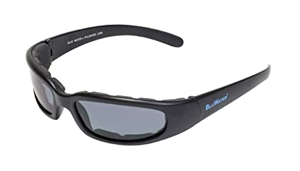 BluWater Floating 6 Polarized Sunglasses with Vented EVA Foam, Smoke Lens, Matte Black Frame