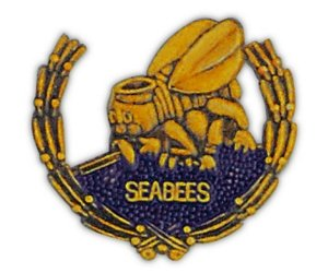 United States Navy Seabees Wreath Lapel Pin