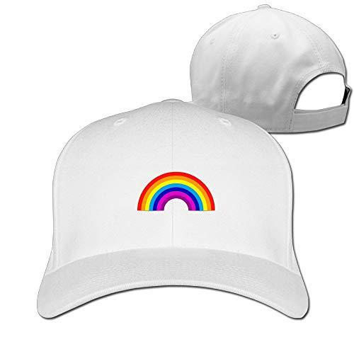 Christtd Borggd Unisex Fashion Embroidery Baseball Cap Rainbow Cotton Adjustable Strapback Dad Snapback Hat ()