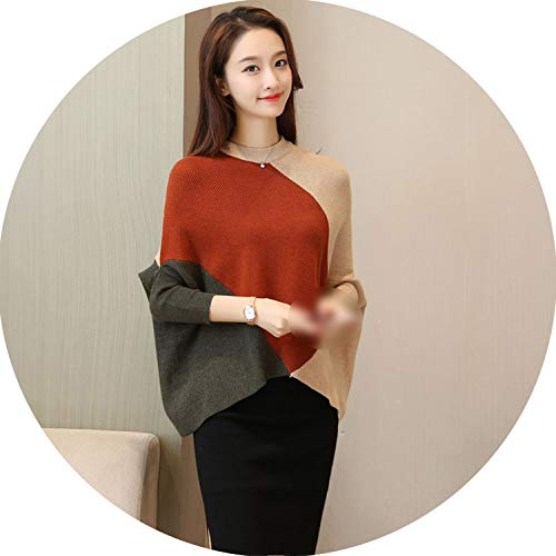 Show-Show-Fashion&Sweaters Patchwork Winter Woman Sweater Knitting Pullovers Jumpers Ladies,O Neck-Color 6,M