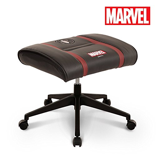 41SgMgpYvKL - Licensed-Marvel-Ottoman-Foot-Rest-Seat-Stool-wWheel-Height-Adjustable-Office-Home-Furniture-Premium-PU-Leather-Neo-Chair-Spider-Man-Black
