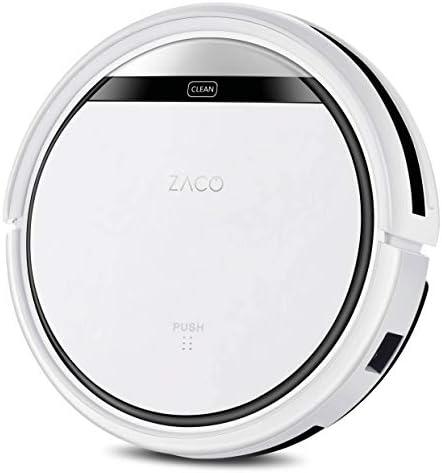 ZACO V3sPro – Aspirateur robot programmable avec 4 modes de nettoyage – Aspiration de poils d'animaux et force d'aspiration puissante, convient aux sols durs – Blanc neige - Home Robots