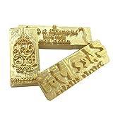 Custom Logo Hot Foil Stamping Brass Mold Branding