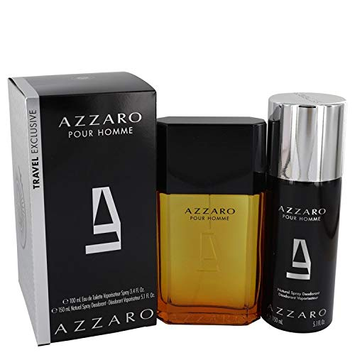 Azzäro Gift Set - 3.4 oz Eau De Toilette Spray + 5.1 oz Deodorant Spray