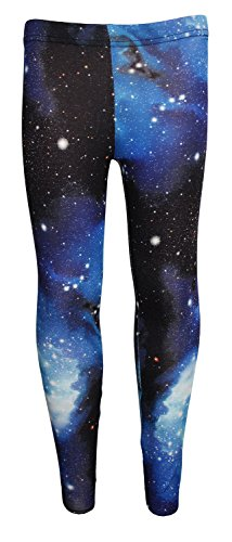 29517a6cbbf34 Girl's Children's Awesome Blue Galaxy Space Universe Print Leggings ...