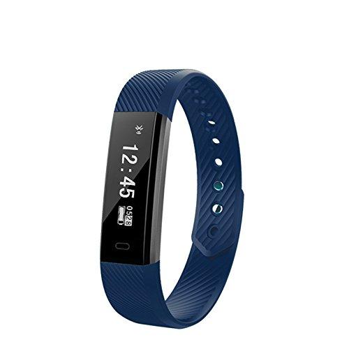 Pulsera Inteligente,Carga USB ID115,Fitness Tracker con Pulsómetros ...