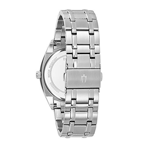Bulova Men's Classic Quartz Watch with Stainless-Steel Strap, Silver, 22 (Model: 96C125)