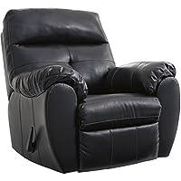 Flash Furniture Benchcraft Bastrop Rocker Recliner in Midnight DuraBlend