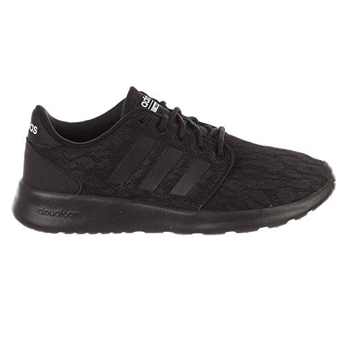 adidas Women's CF QT Racer W Sneaker, Core Black, Core Black,White, 8 M US