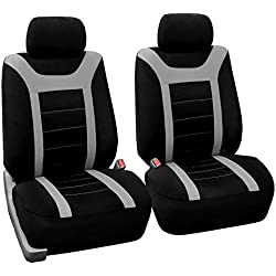 FH Group FB070GRAY102 Gray Front Airbag Ready Sport Bucket Seat Cover, Set of 2