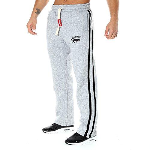 Smilodox Herren Jogginghose , Größe:L;Farbe:Grau/Schwarz