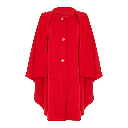 Wool & Cashmere Cape with Scarf, Red