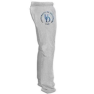 ElishaJ Men's University Football Of Delaware Popular Training Trousers Ash M