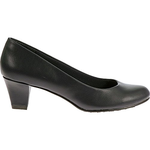 Soft Style Hush Puppies Women's Gail Dress Pump, Navy Leather, 9.5 W US by Soft Style (Image #1)