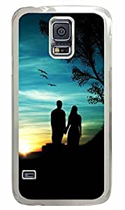 Transparent Fashion Case for Samsung Galaxy S5 Generation Plastic Case Cover for Samsung Galaxy S5 with Watching the Sunset