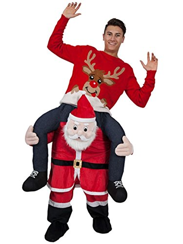 GUAITAI Shoulder Ride On Mascot Costume Piggy Back Party Fancy Dress Carry Costume 22 Style (3-5 Working Days) (Father Christmas/Red) -