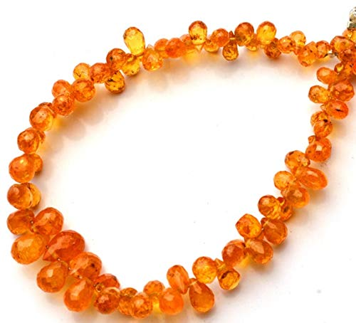 GemAbyss Beads Gemstone 1 Strand Natural Songea Africa Yellow Sapphire 2x4 to 5x8MM Approx Faceted Teardrop Shape Briolettes Full 5.5 Inch Code-MVG-11131
