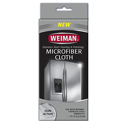(Weiman Microfiber Cloth for Stainless Steel - Safely Traps and Removes Dirt, Oil and Grime to Protect From)